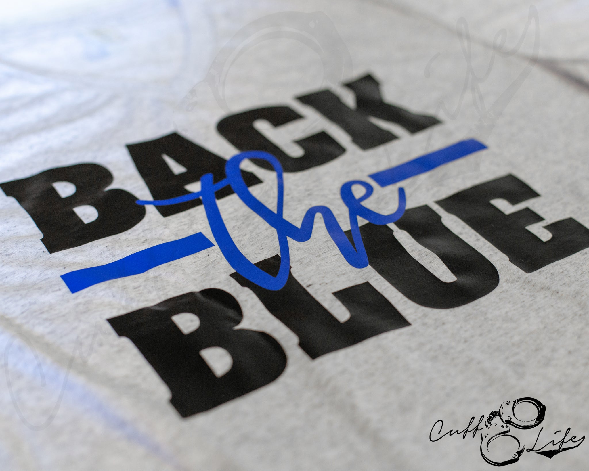Back The Blue - Boyfriend Fit V-Neck Tee