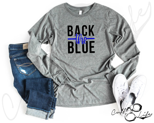 Back the Blue NEW © - Long Sleeve Tee