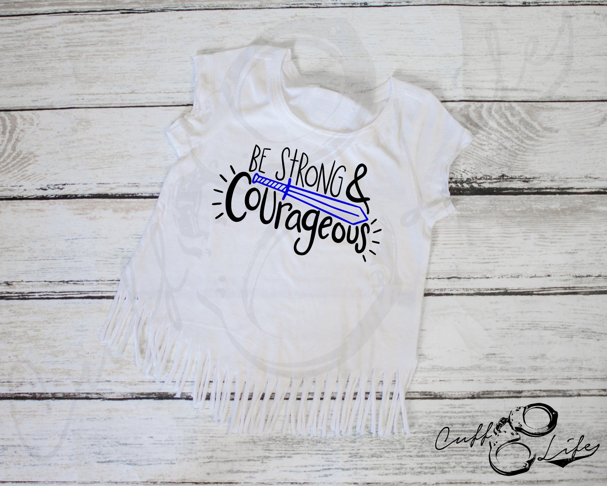 Be Strong & Courageous - Fringe Tee