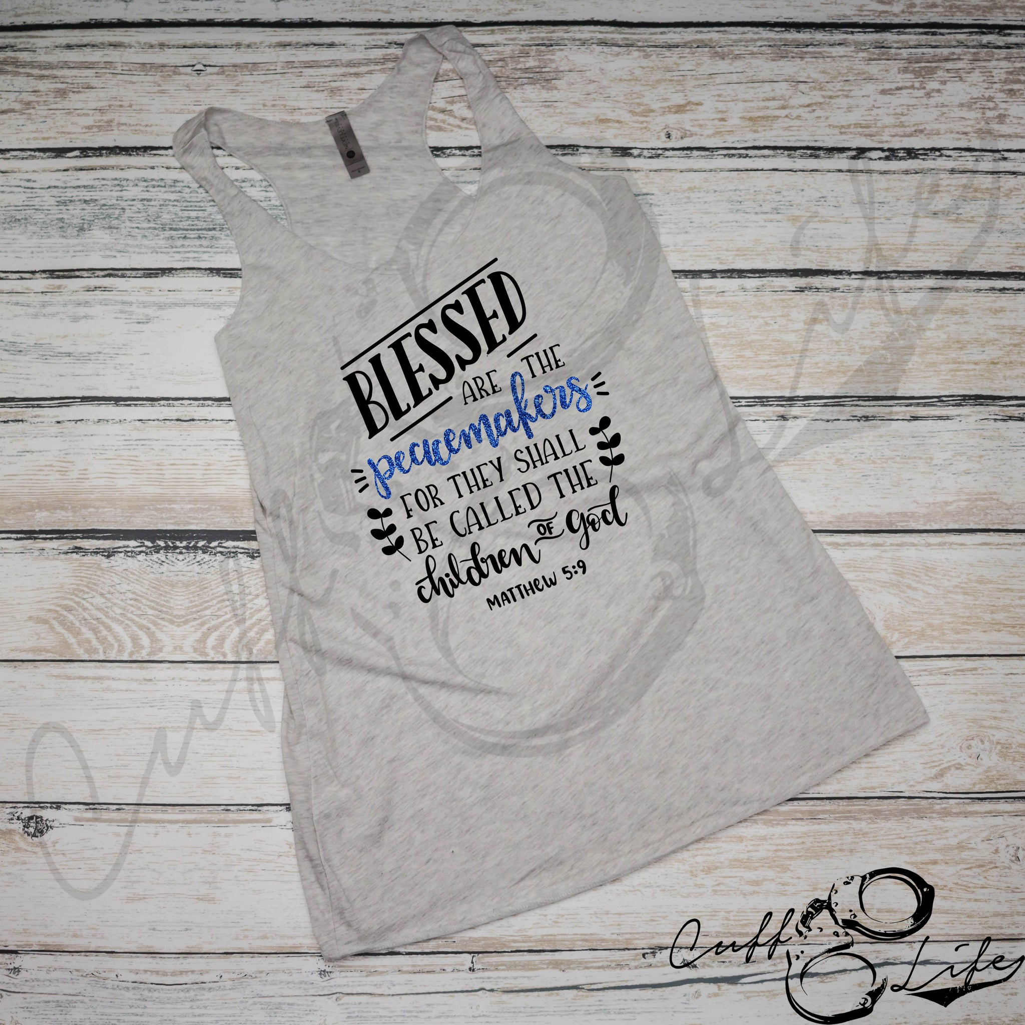 Blessed Are The Peacemakers - Racerback Tank