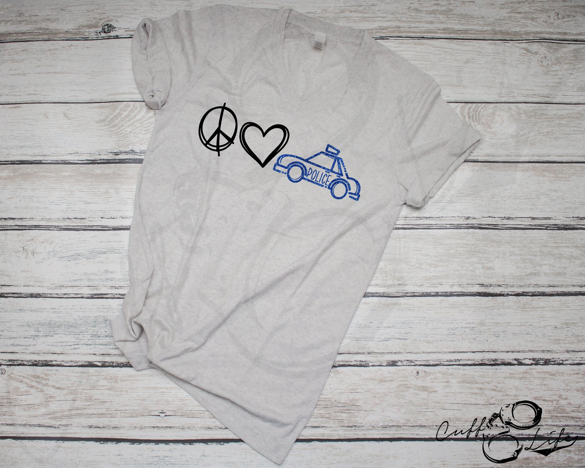 Peace Love Police - Boyfriend Fit V-Neck Tee
