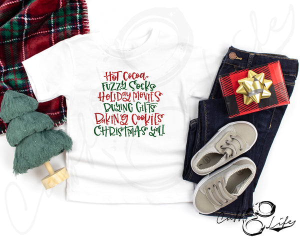 Christmas Words - Toddler/Youth T-Shirt