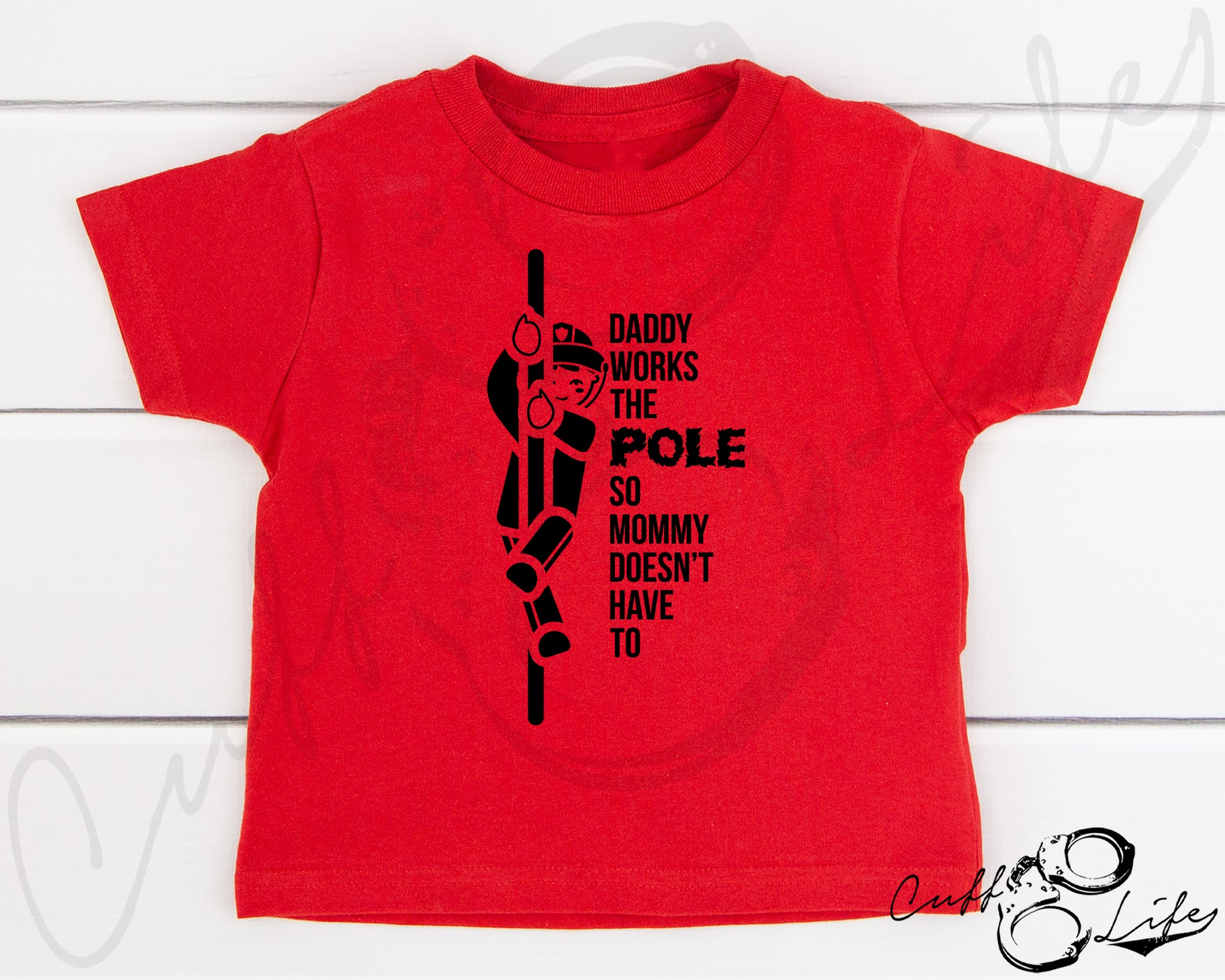 Daddy Works the Pole © - Toddler/Youth T-Shirt