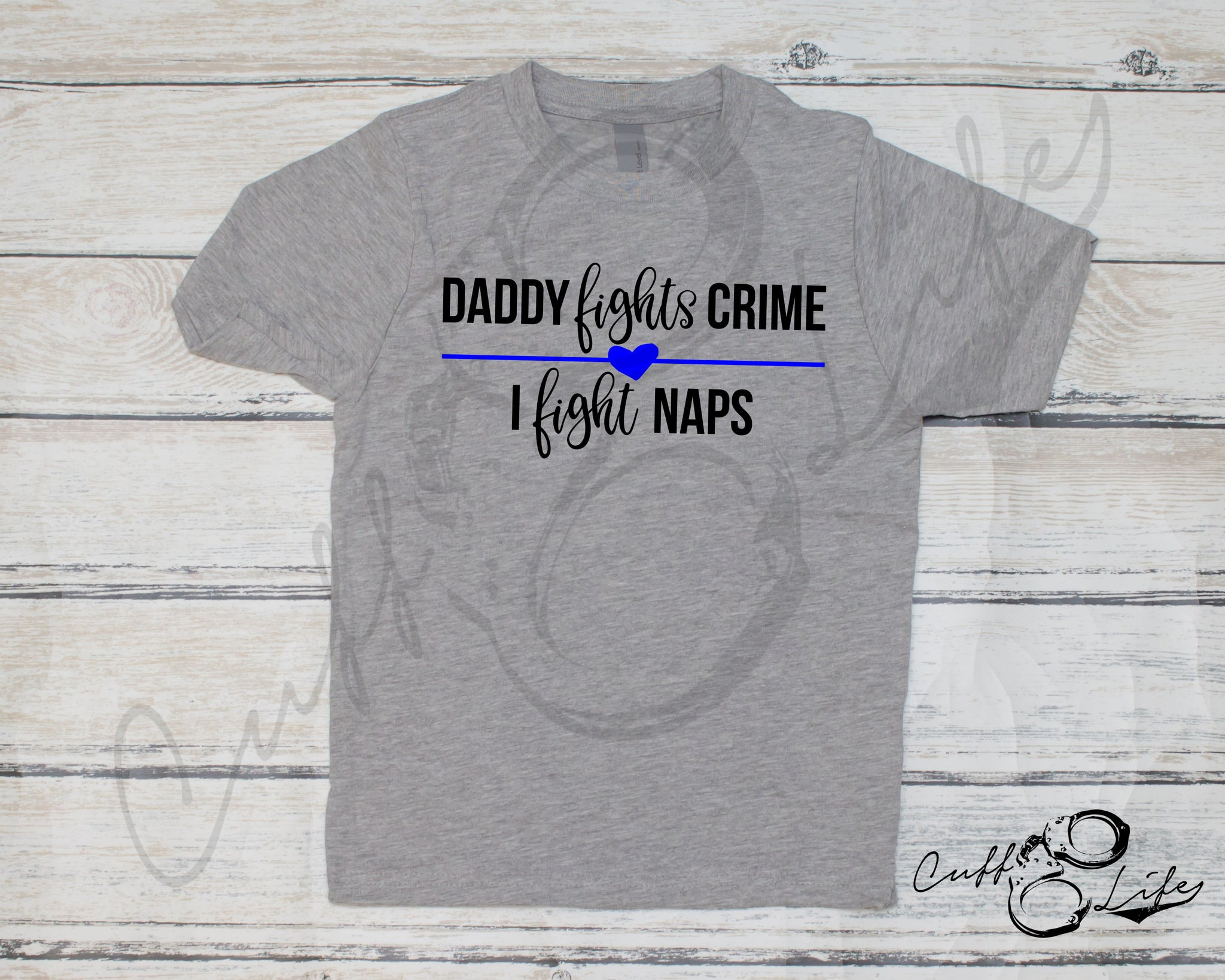 Daddy Fights Crime, I Fight Naps - Toddler/Youth T-Shirt