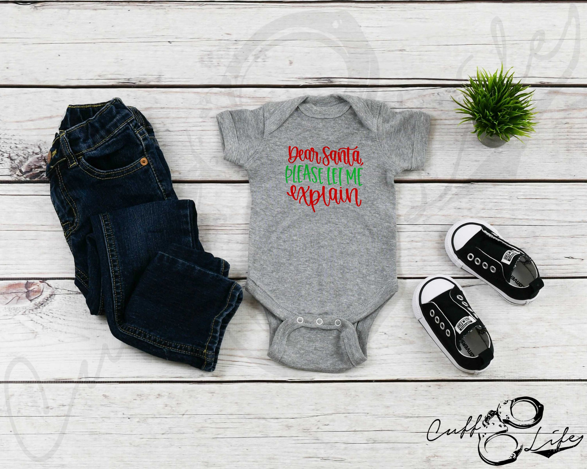 Dear Santa Please Let Me Explain - Infant Bodysuit
