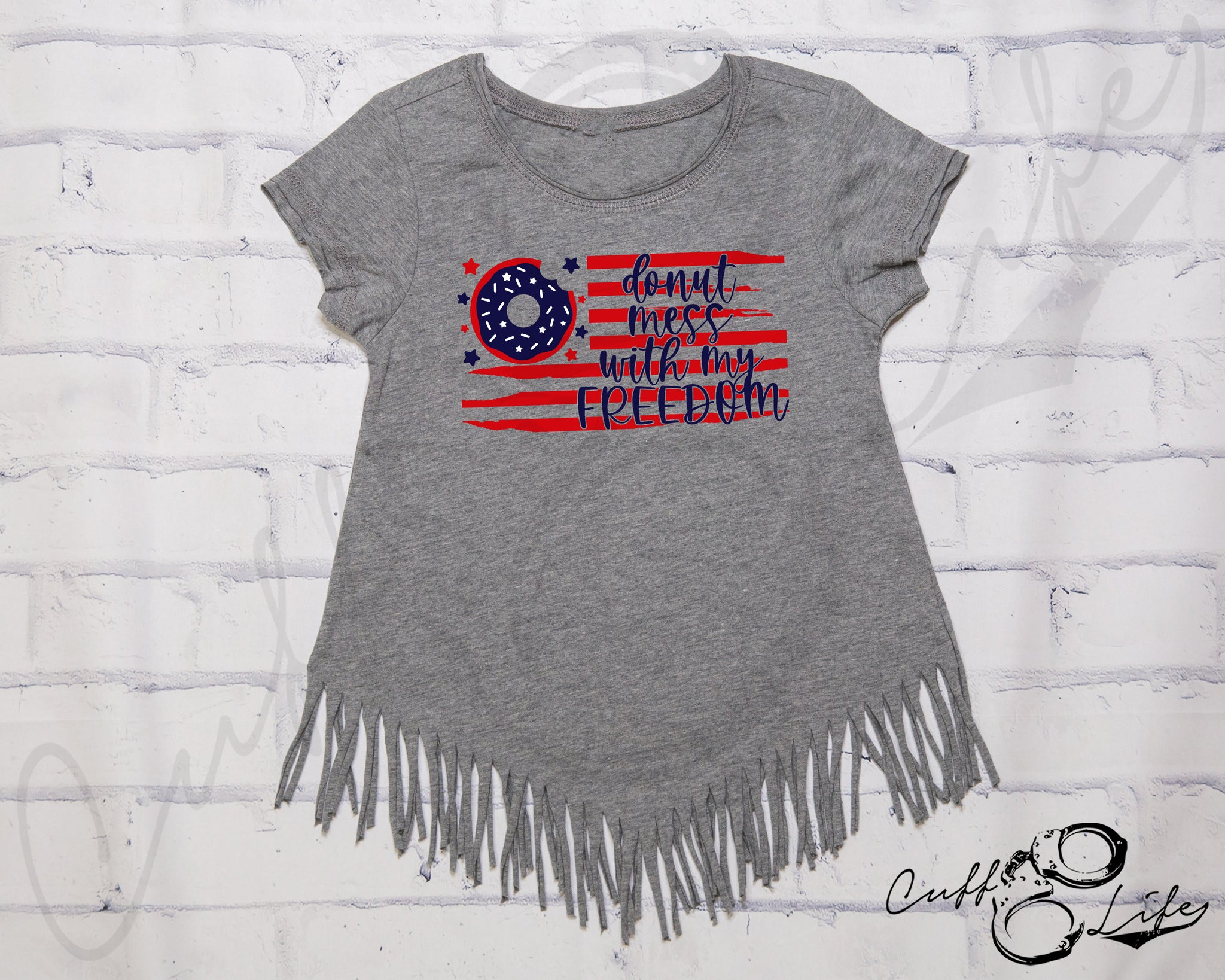 Donut Mess With My Freedom - Fringe Tee