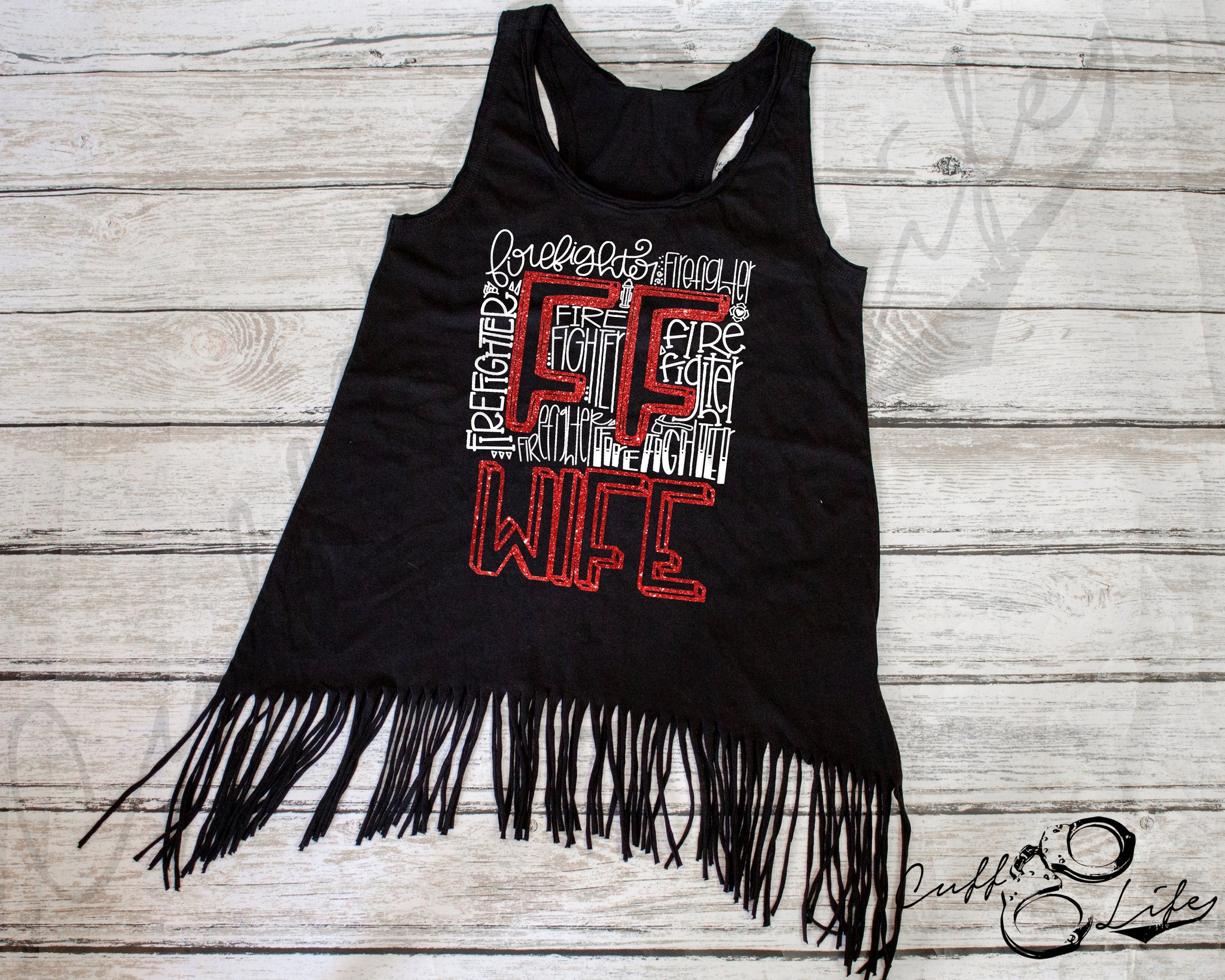 FF Wife Typography - Fringe Tank
