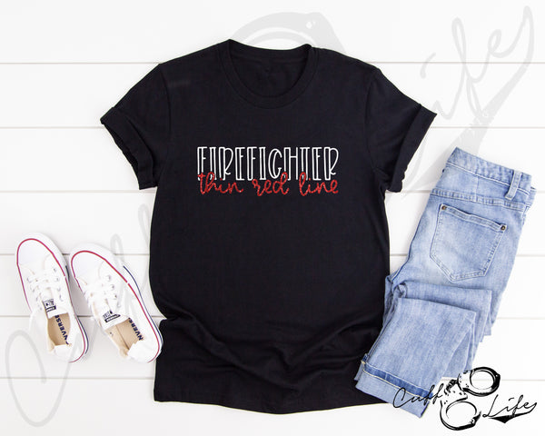 FIREFIGHTER Thin Red Line © - Unisex T-Shirt
