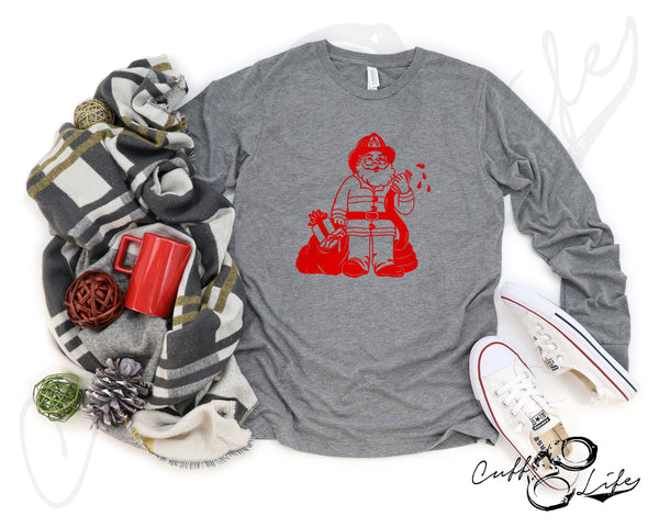 Firefighter Santa © - Long Sleeve Tee