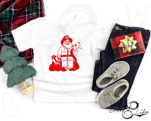 Firefighter Santa © - Toddler/Youth T-Shirt
