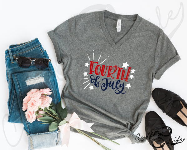 Fourth of July - Boyfriend Fit V-Neck Tee