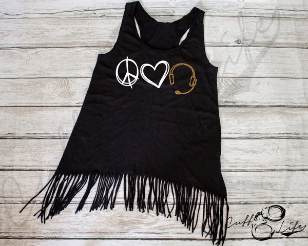 Peace Love Dispatch - Fringe Tank