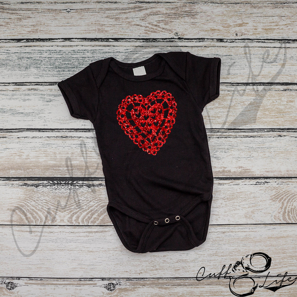 Glitter Heart - Infant Bodysuit