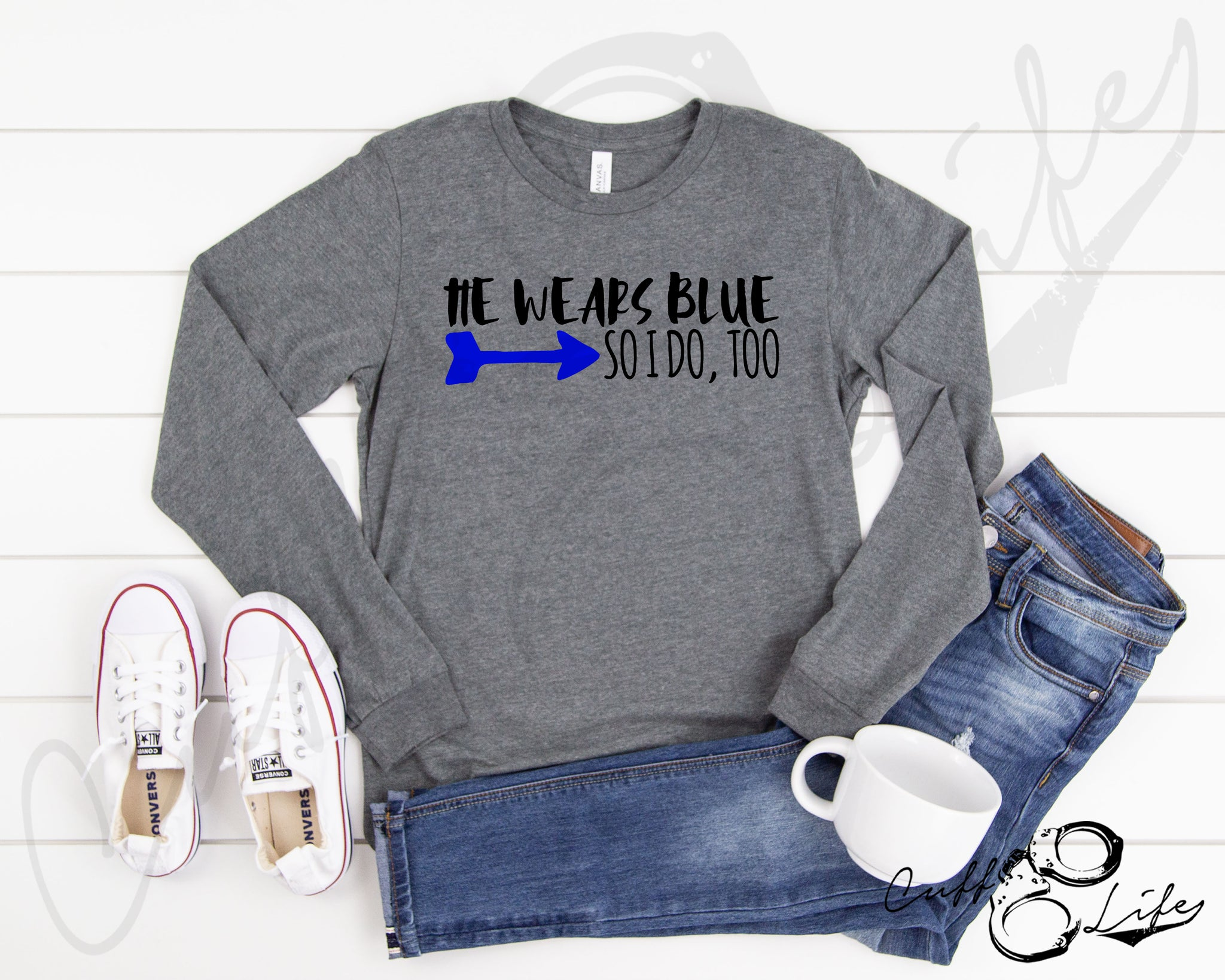 He Wears Blue © - Long Sleeve Tee
