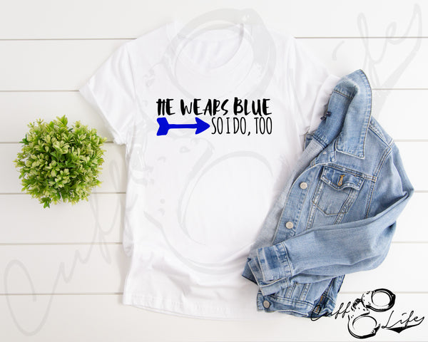 He Wears Blue - Unisex T-Shirt