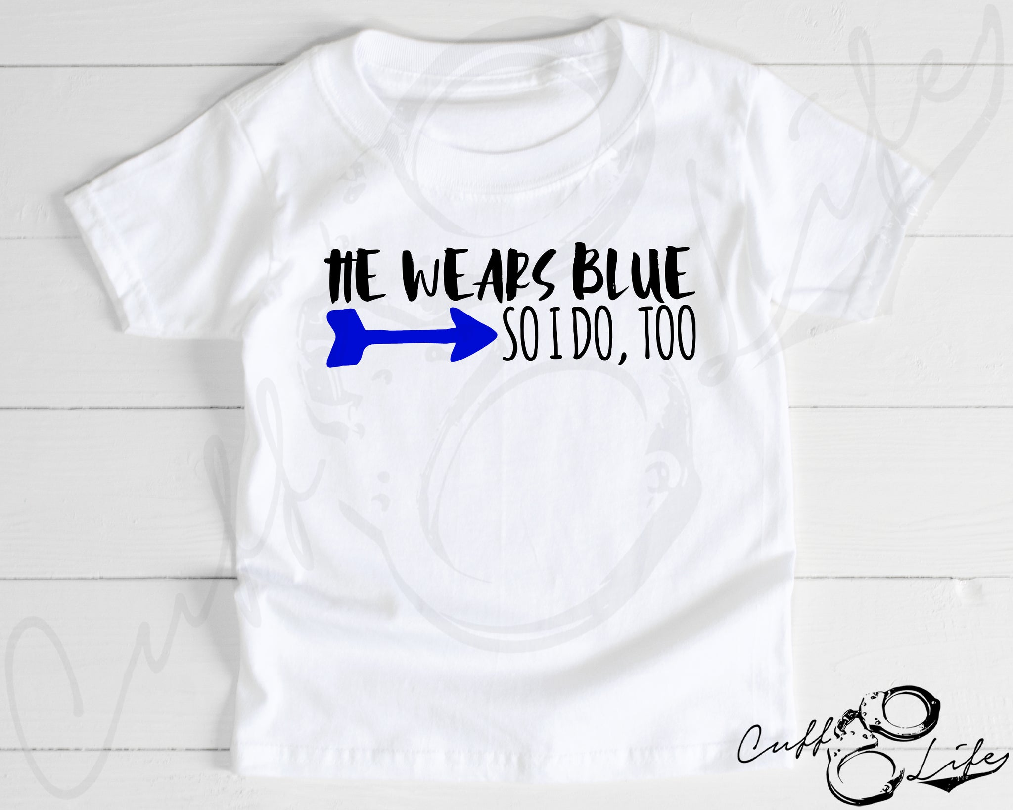 He Wears Blue © - Toddler/Youth T-Shirt