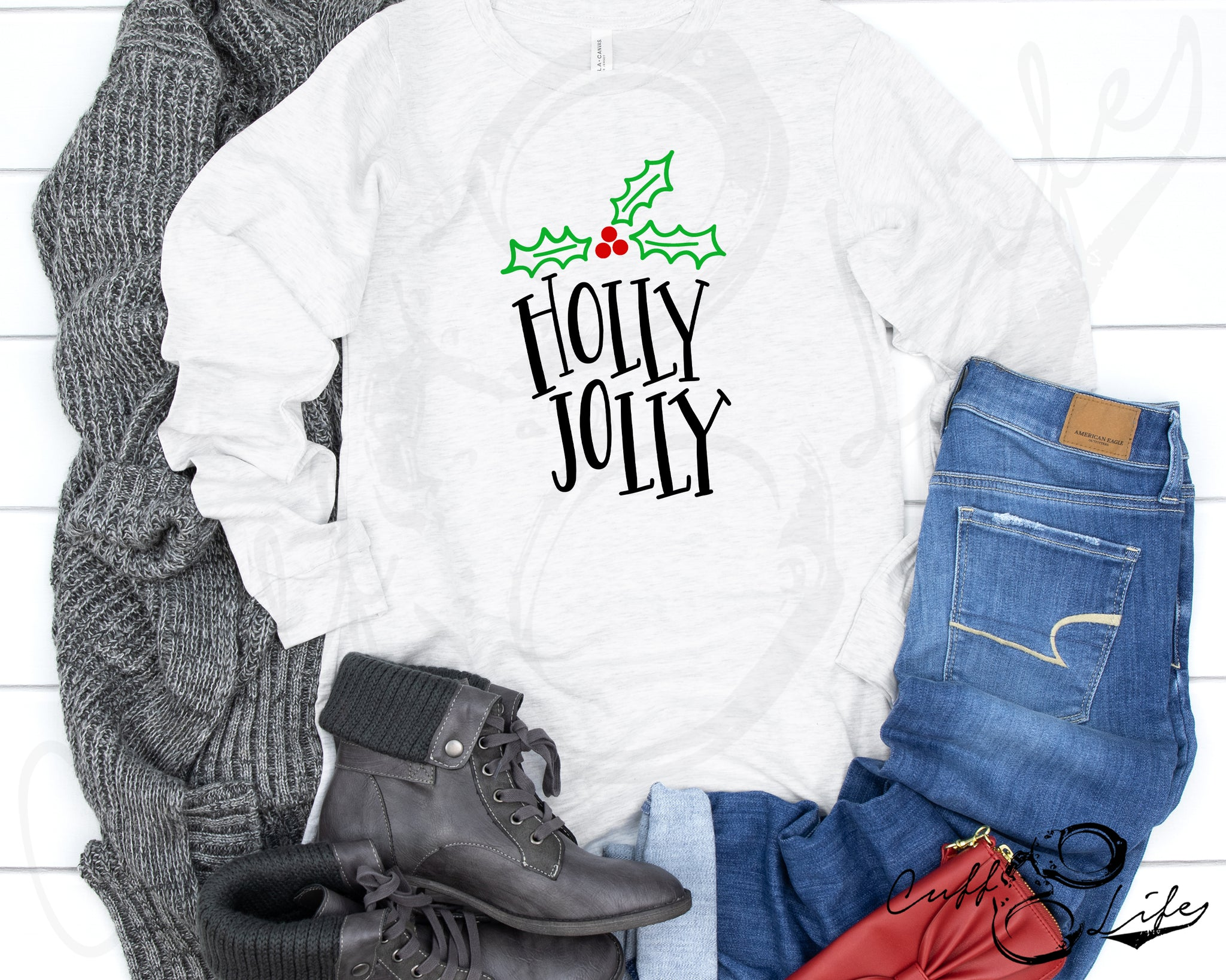 Holly Jolly - Long Sleeve Tee
