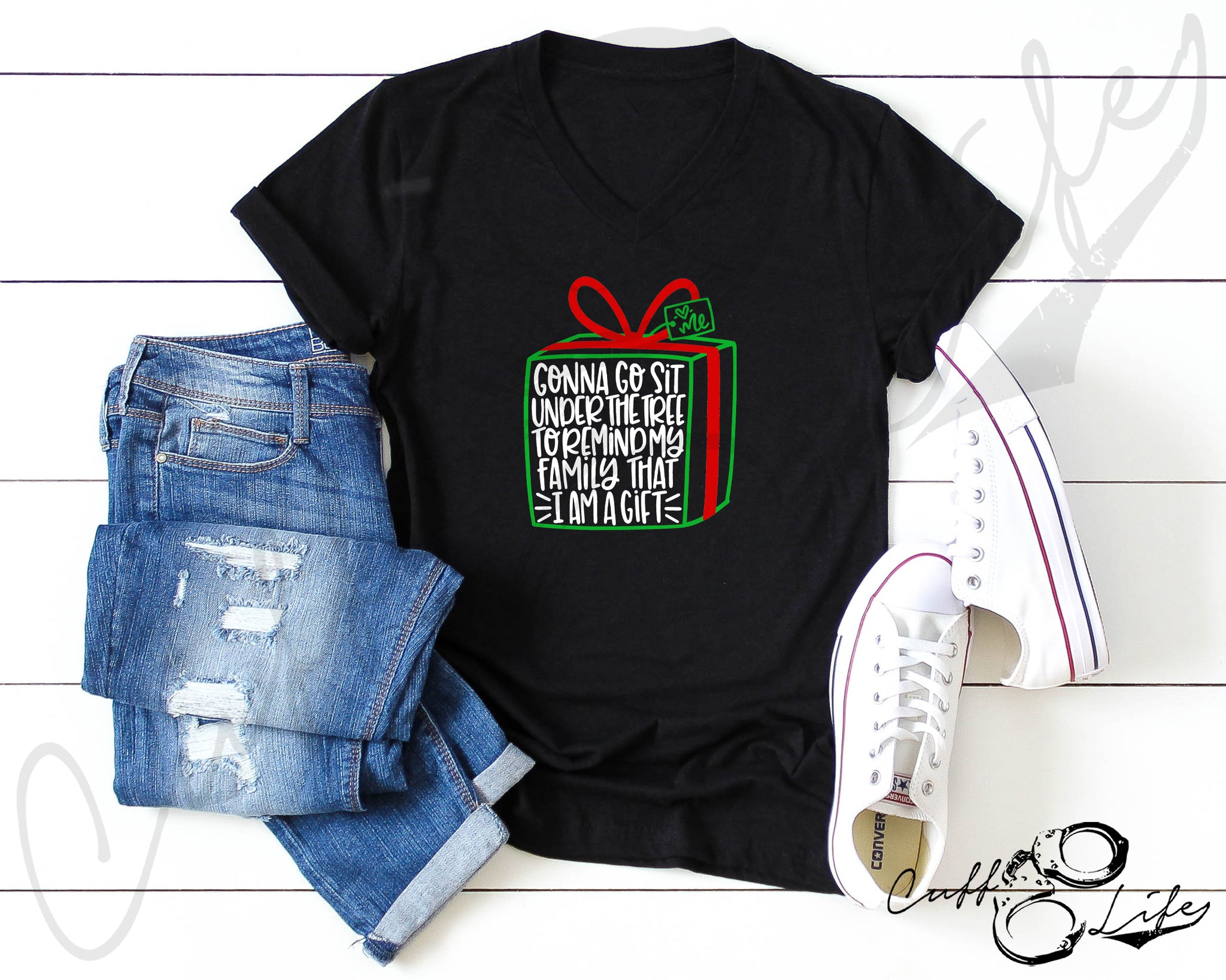 I Am A Gift - Boyfriend Fit V-Neck Tee