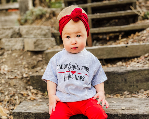 Daddy Fights Fires, I Fight Naps © - Toddler/Youth T-Shirt