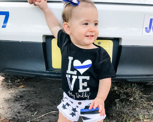 LOVE My Daddy - Thin Blue Line - Infant Bodysuit