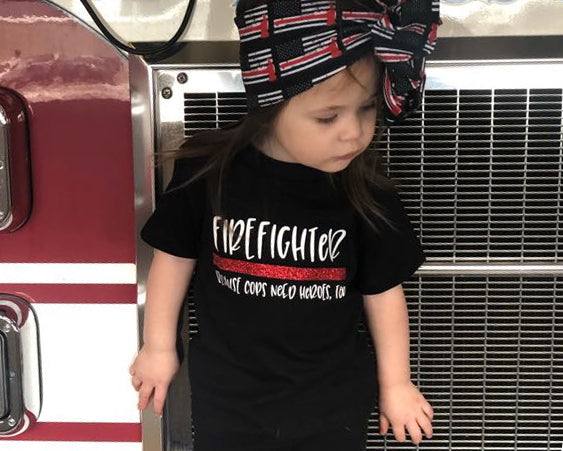 Firefighter Because Cops Need Heroes Too - Toddler/Youth T-Shirt