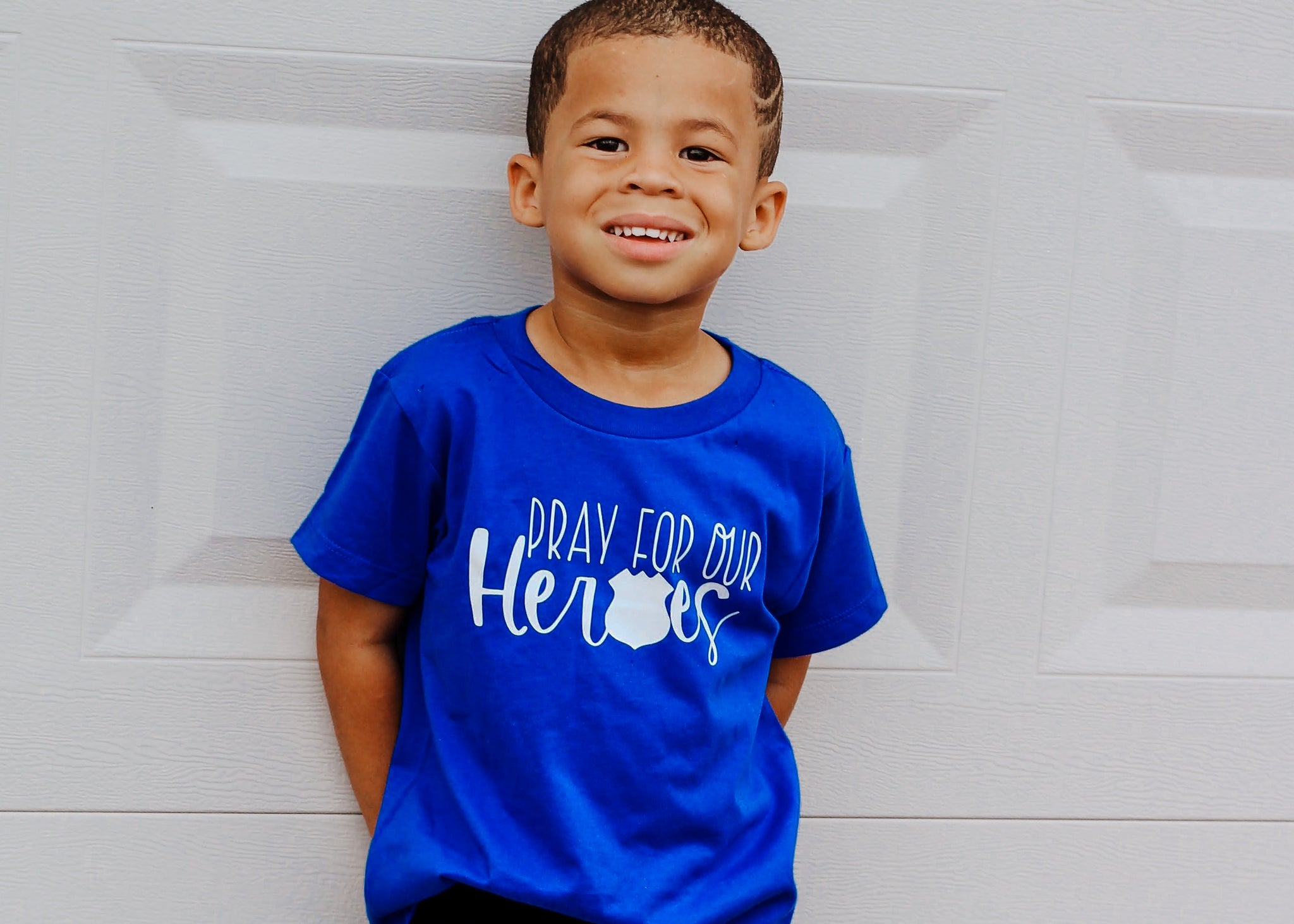 Pray For Our Heroes POLICE © - Toddler/Youth T-Shirt