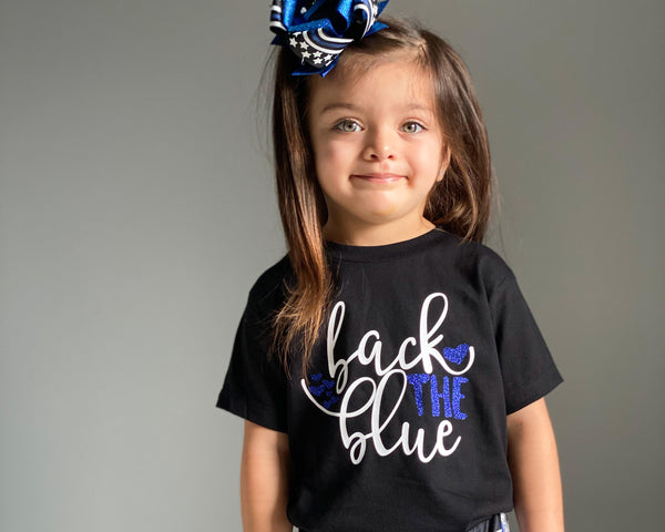 Back The Blue (Hearts) - Toddler/Youth T-Shirt