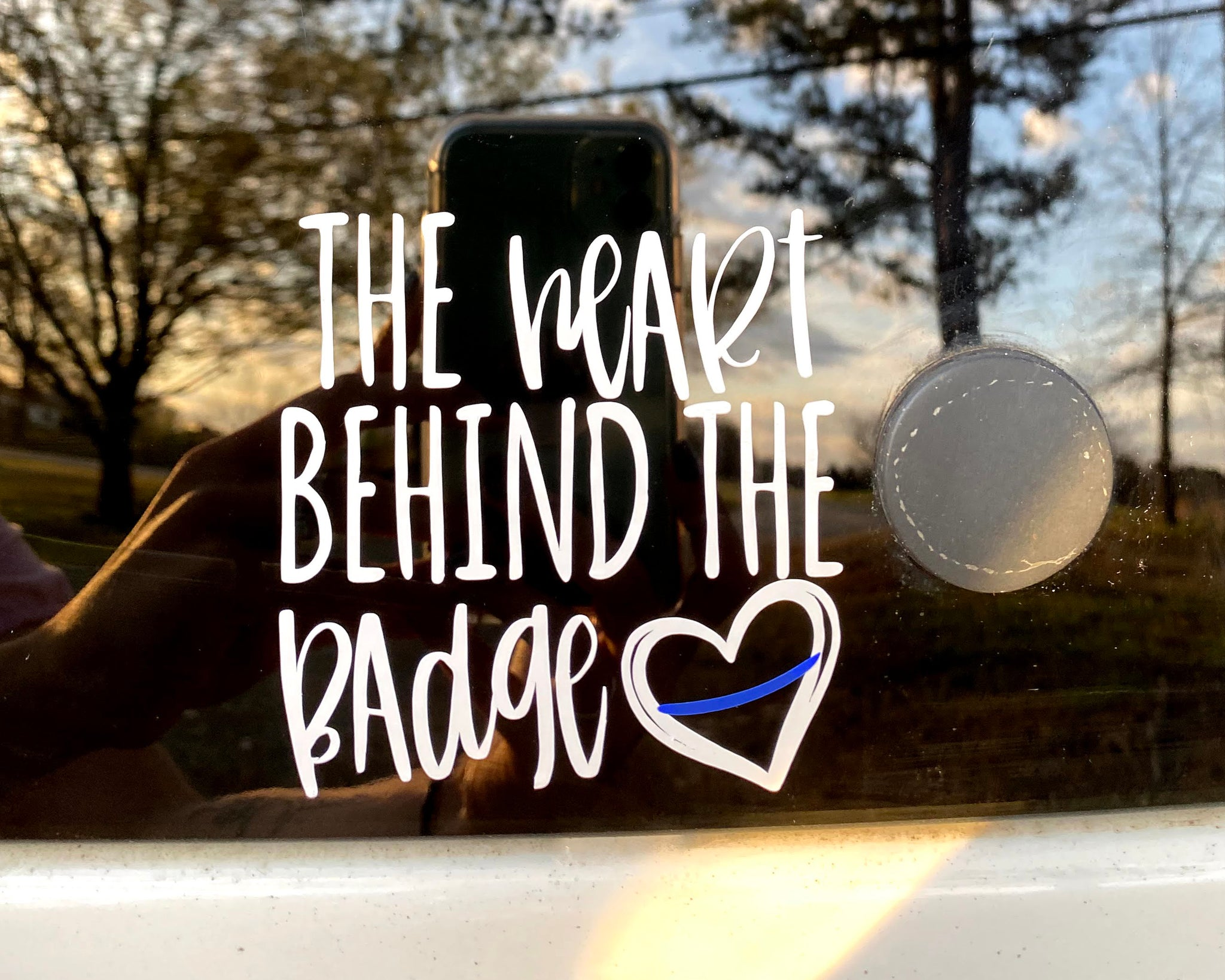 The Heart Behind the Badge - Decal