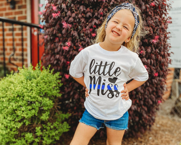Little Miss Thin Blue Line - Toddler/Youth T-Shirt
