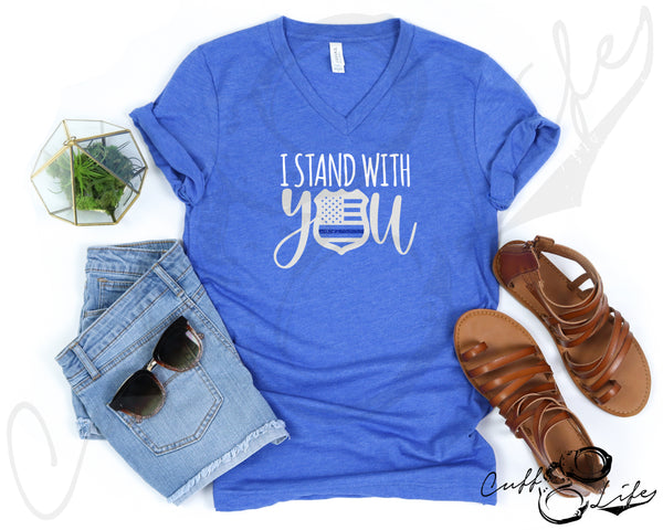 I Stand With You © - Boyfriend Fit V-Neck Tee