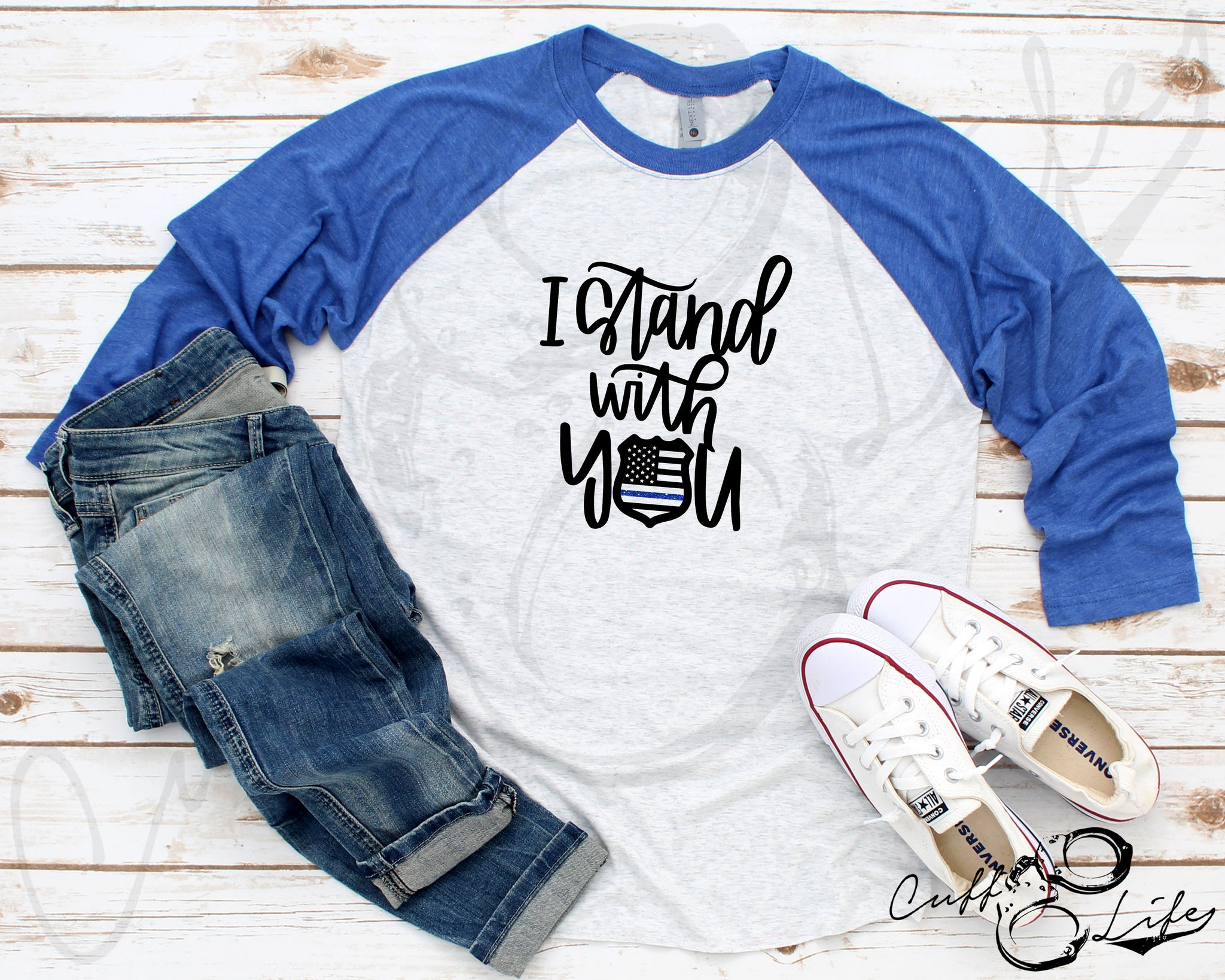 I Stand With You 2 © - 3/4 Sleeve Raglan