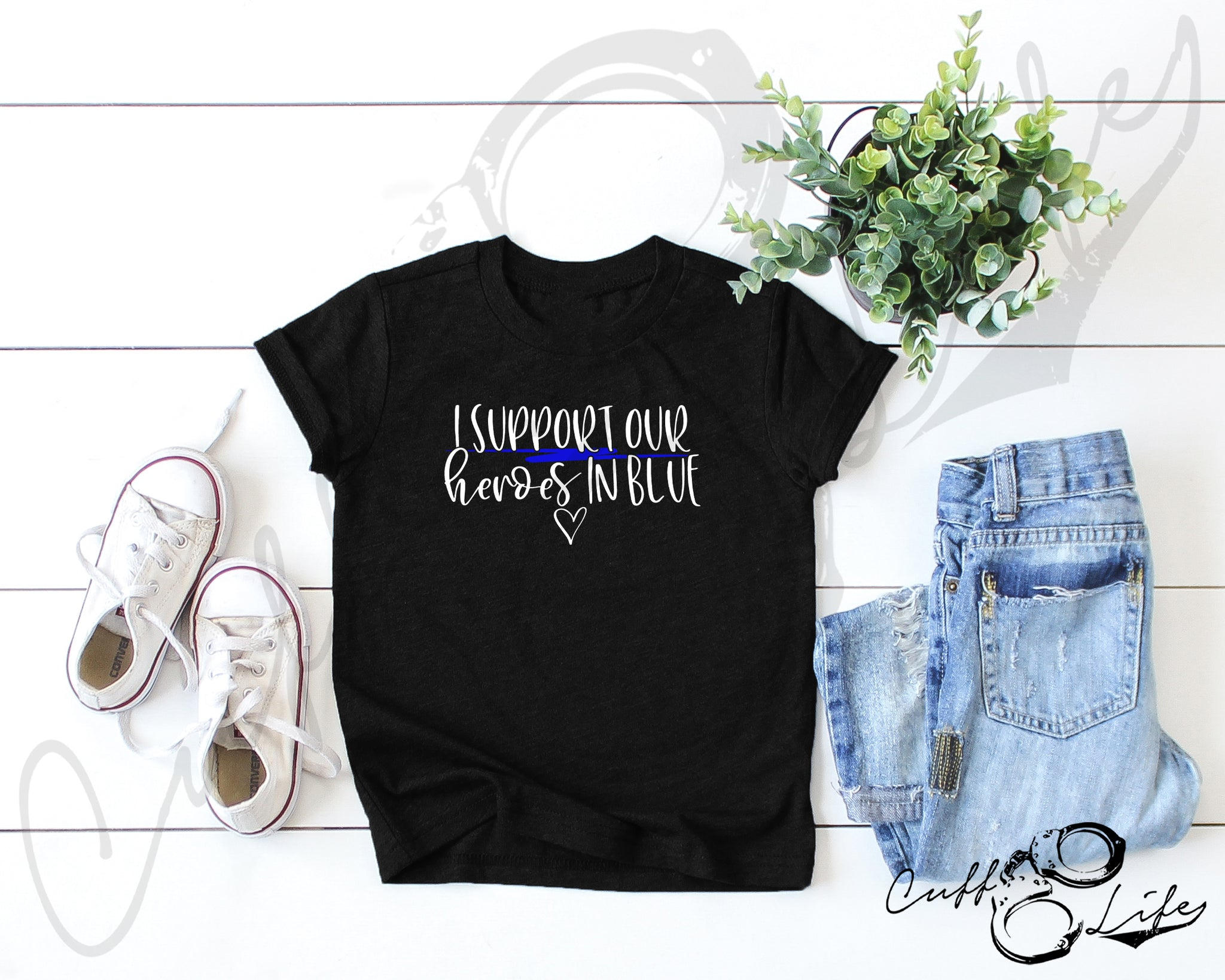 I Support Our Heroes in Blue © - Toddler/Youth T-Shirt