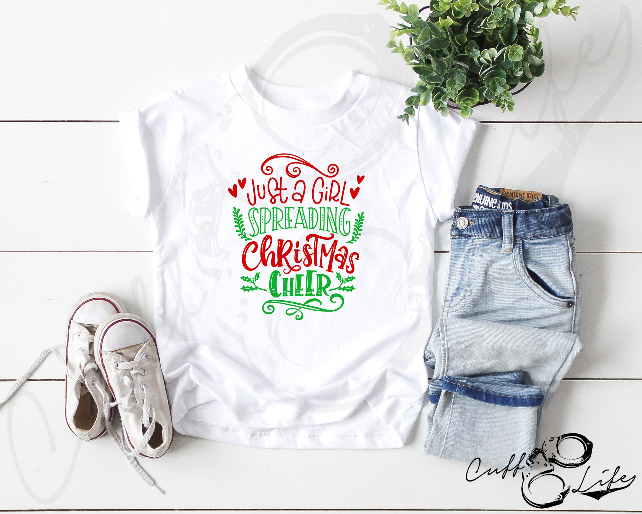 Just A Girl Spreading Christmas Cheer - Toddler/Youth T-Shirt