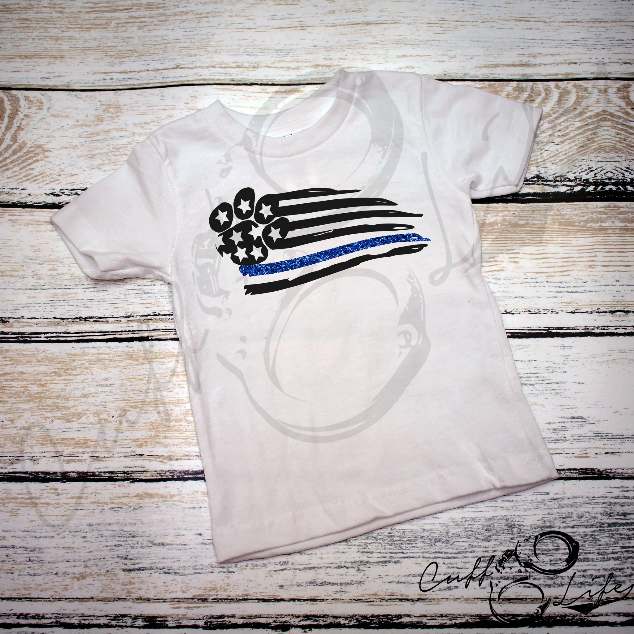 K-9 Thin Blue Line Flag - Toddler/Youth T-Shirt
