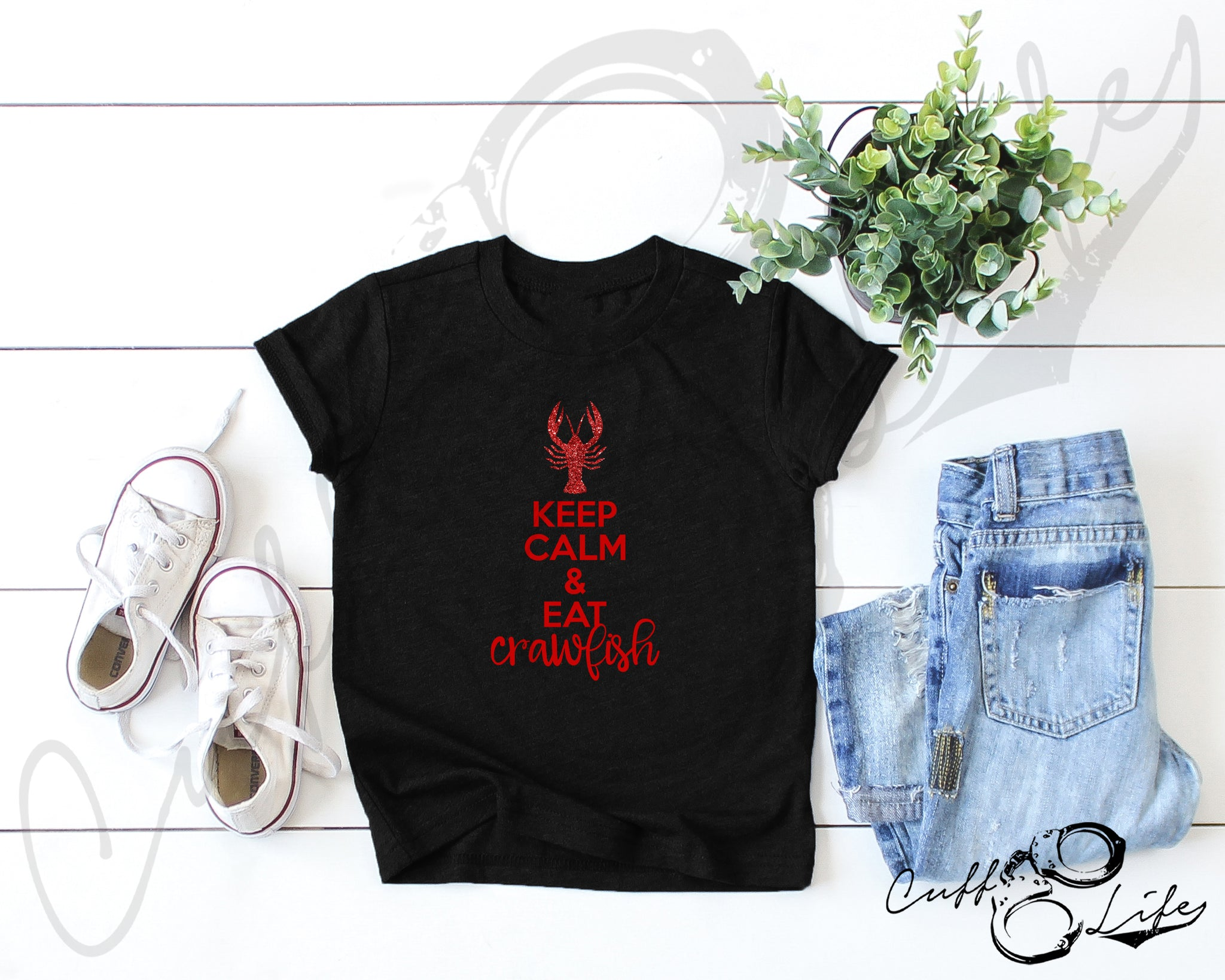 Keep Calm & Eat Crawfish - Toddler/Youth T-Shirt