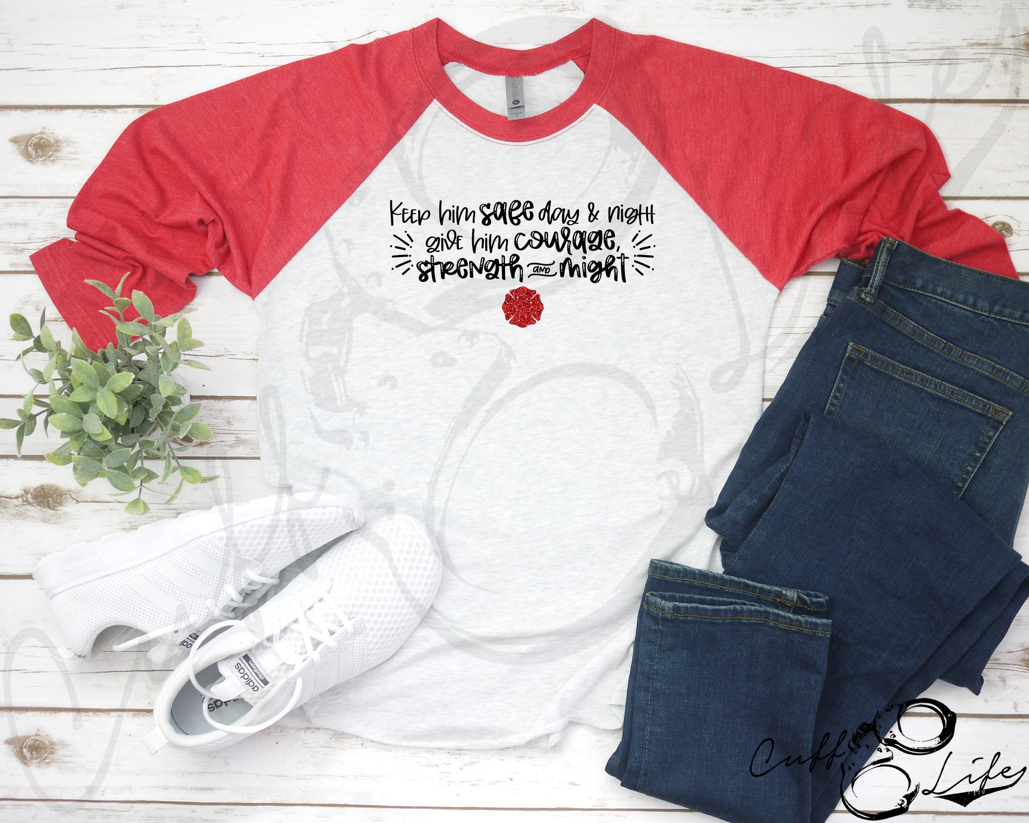 Keep Him Safe © FIRE - 3/4 Sleeve Raglan