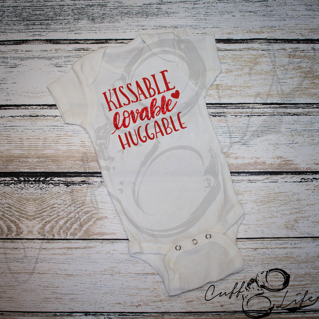 Kissable Lovable Huggable - Infant Bodysuit
