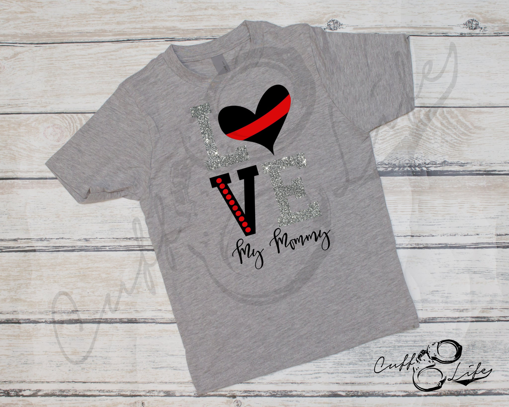 LOVE My Mommy - Thin Red Line - Toddler/Youth T-Shirt