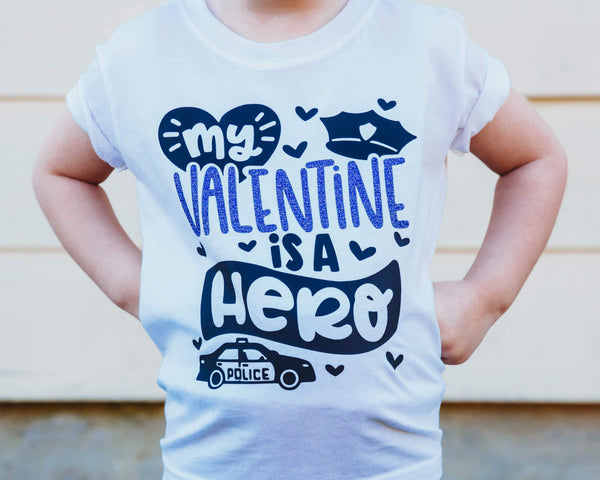 My Valentine Is A Hero 2 - Toddler/Youth T-Shirt