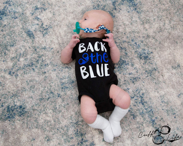 Back The Blue (Handcuffs) © - Infant Bodysuit
