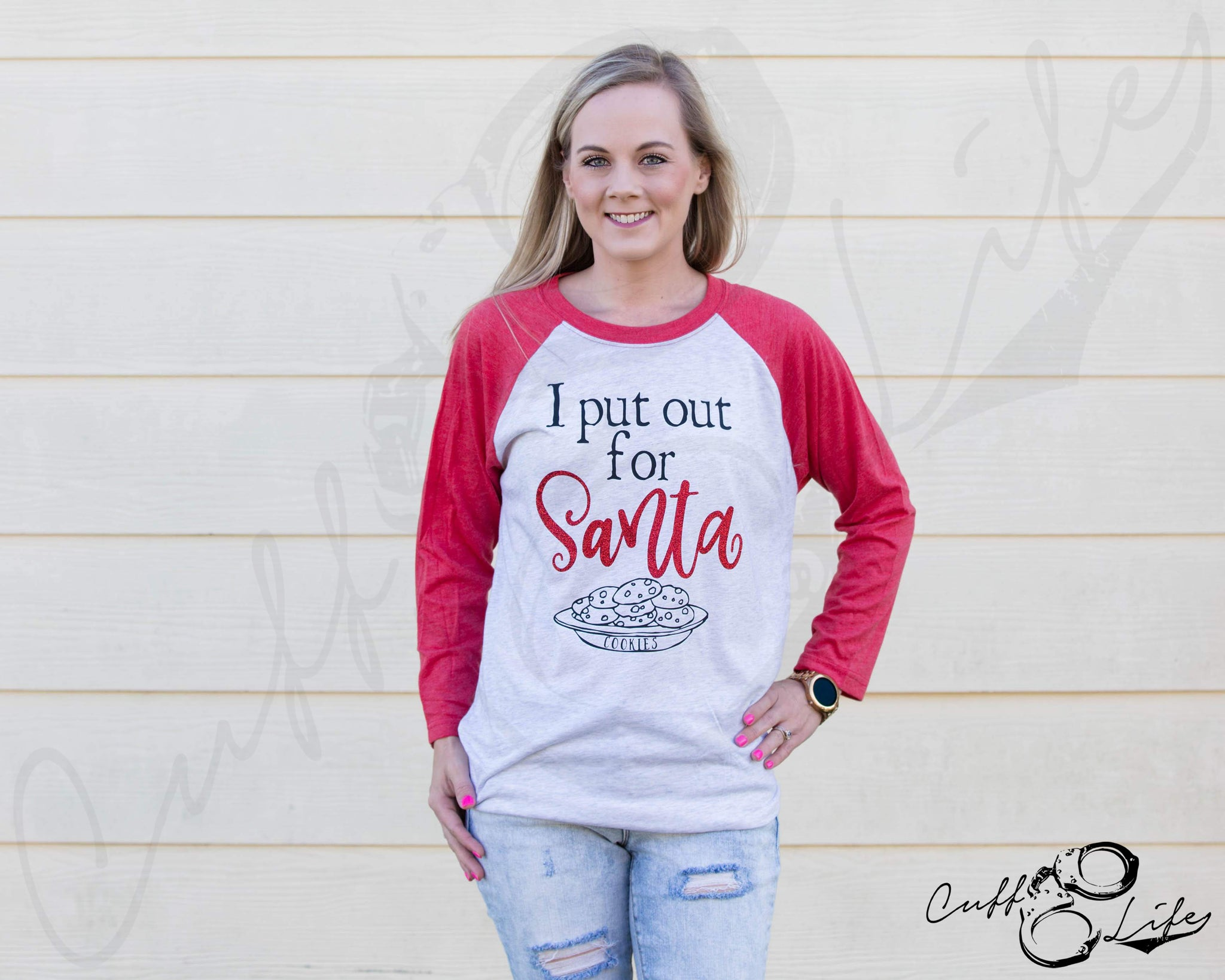 I Put Out For Santa - 3/4 Sleeve Raglan