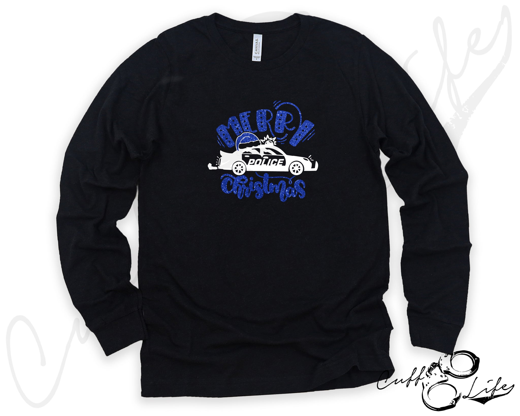 Merry Christmas Police Car - Long Sleeve Tee