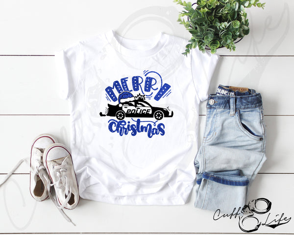 Merry Christmas Police Car - Toddler/Youth T-Shirt