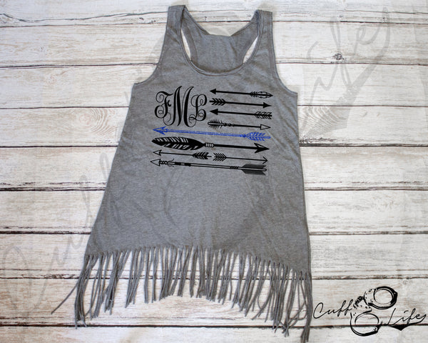Monogram Arrow Flag - TBL - Fringe Tank