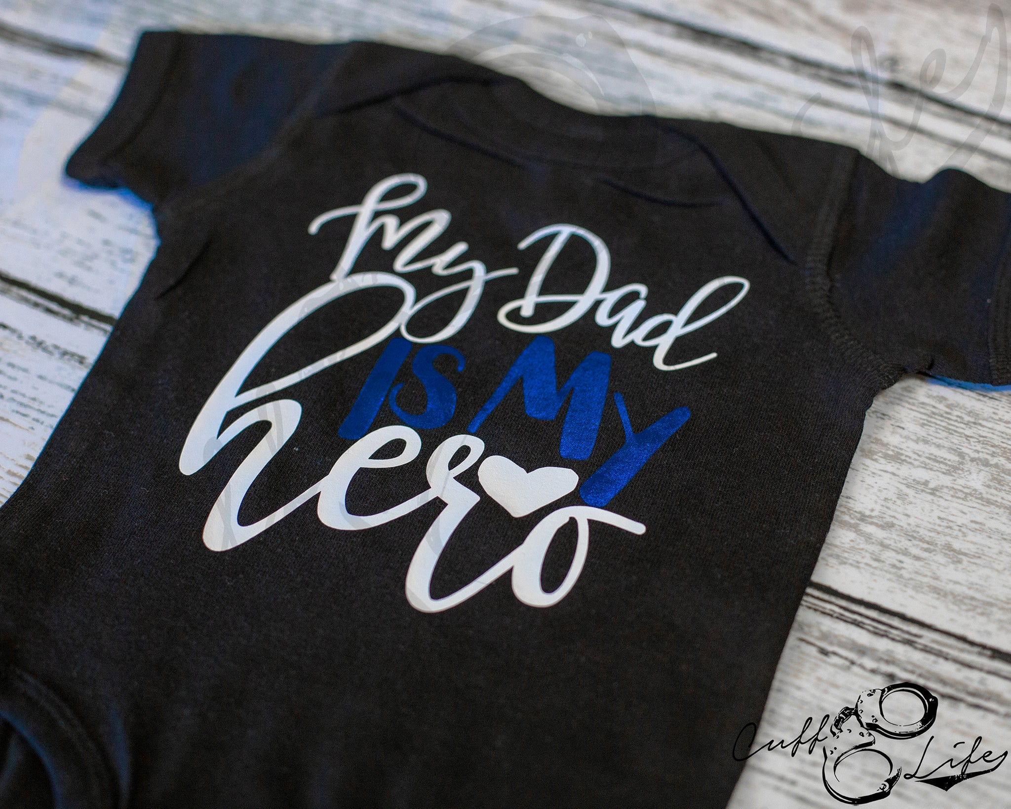 My Dad Is My Hero - Thin Blue Line - Infant Bodysuit