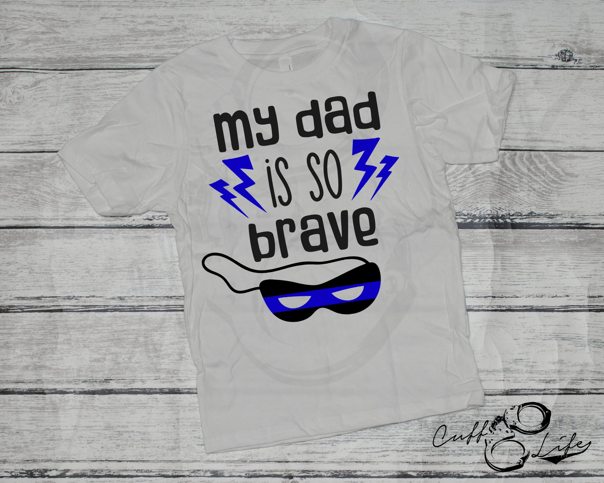 My Dad Is So Brave - Thin Blue Line - Toddler/Youth T-Shirt