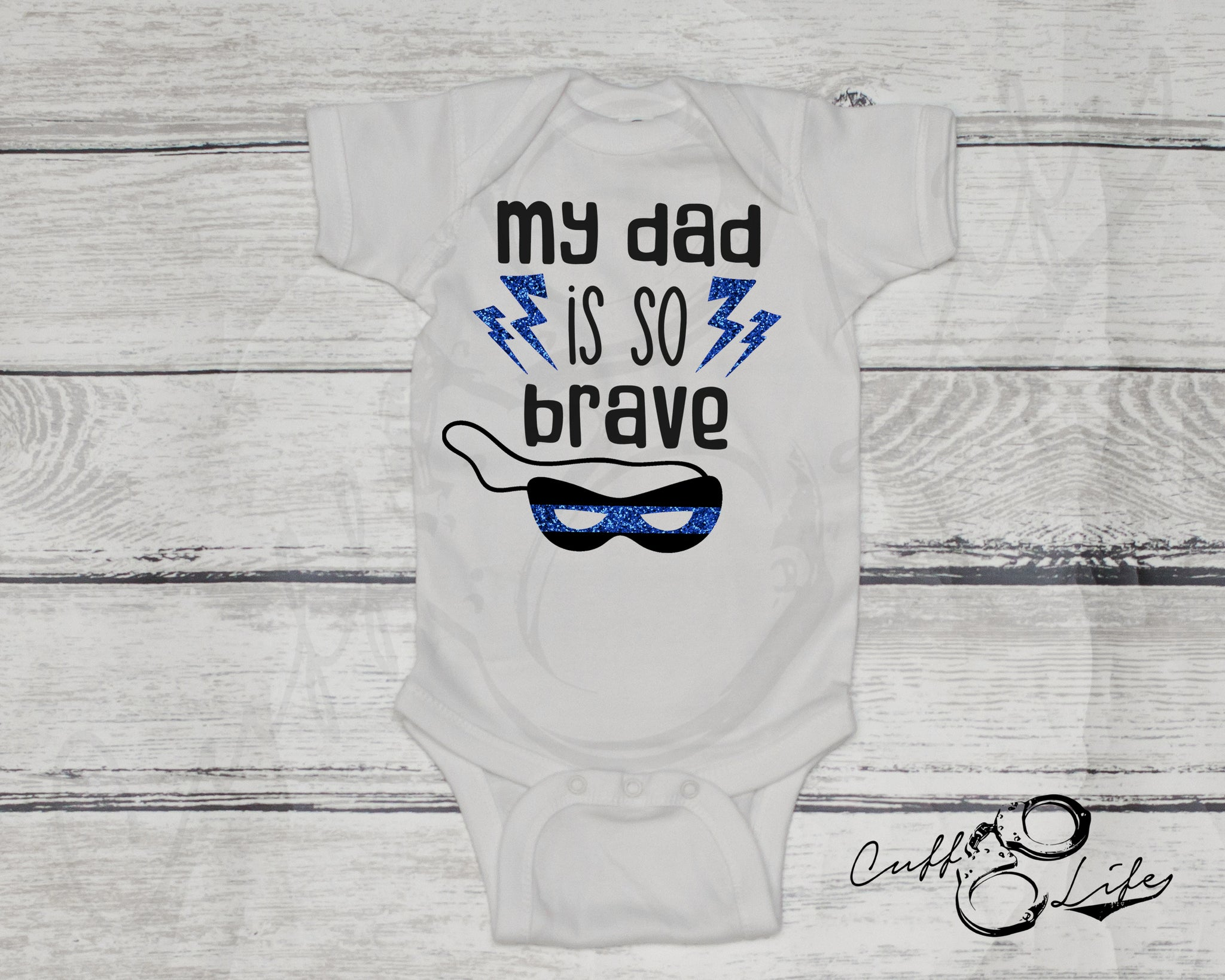 My Dad Is So Brave - Thin Blue Line - Infant Bodysuit