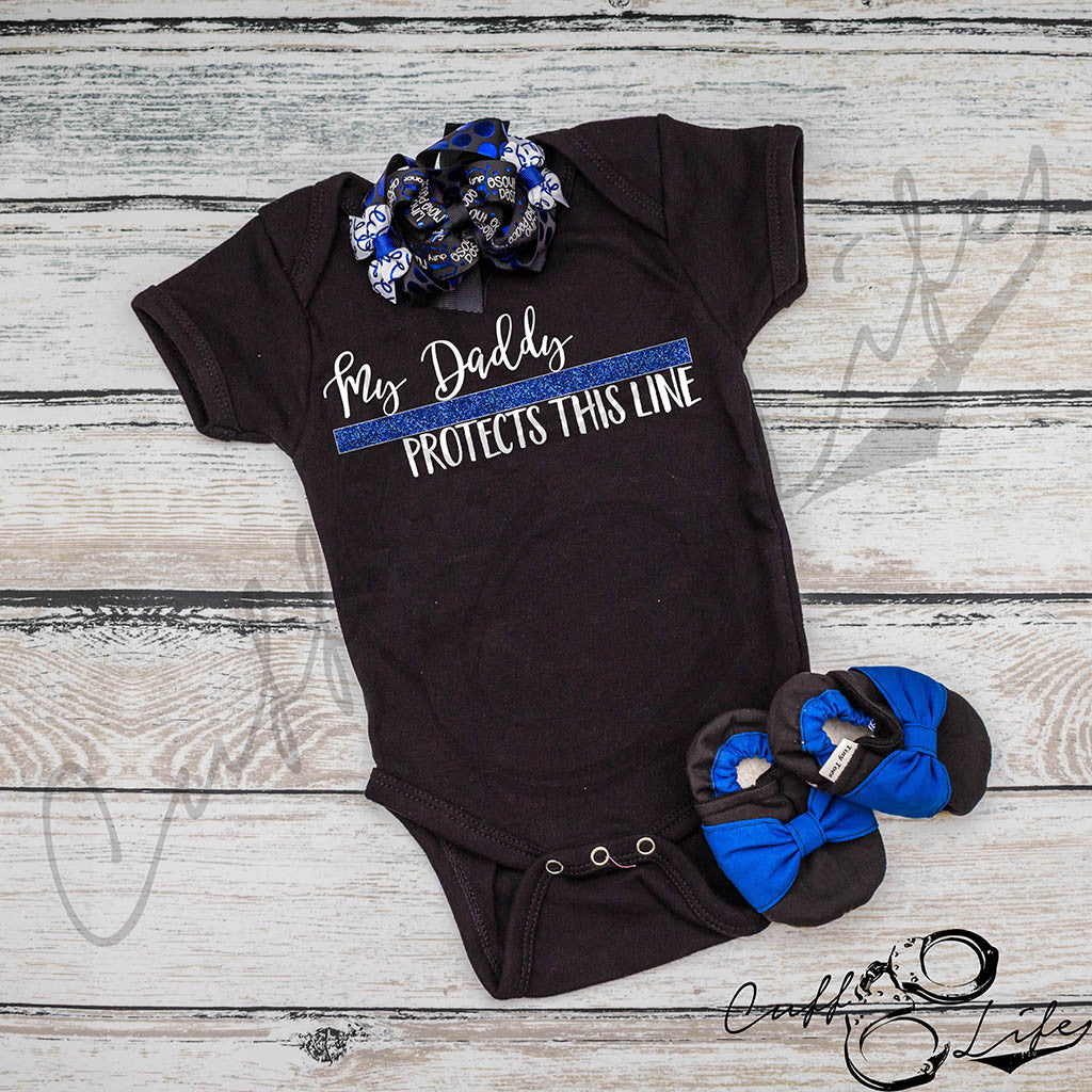 My Daddy Protects This Line - Infant Bodysuit