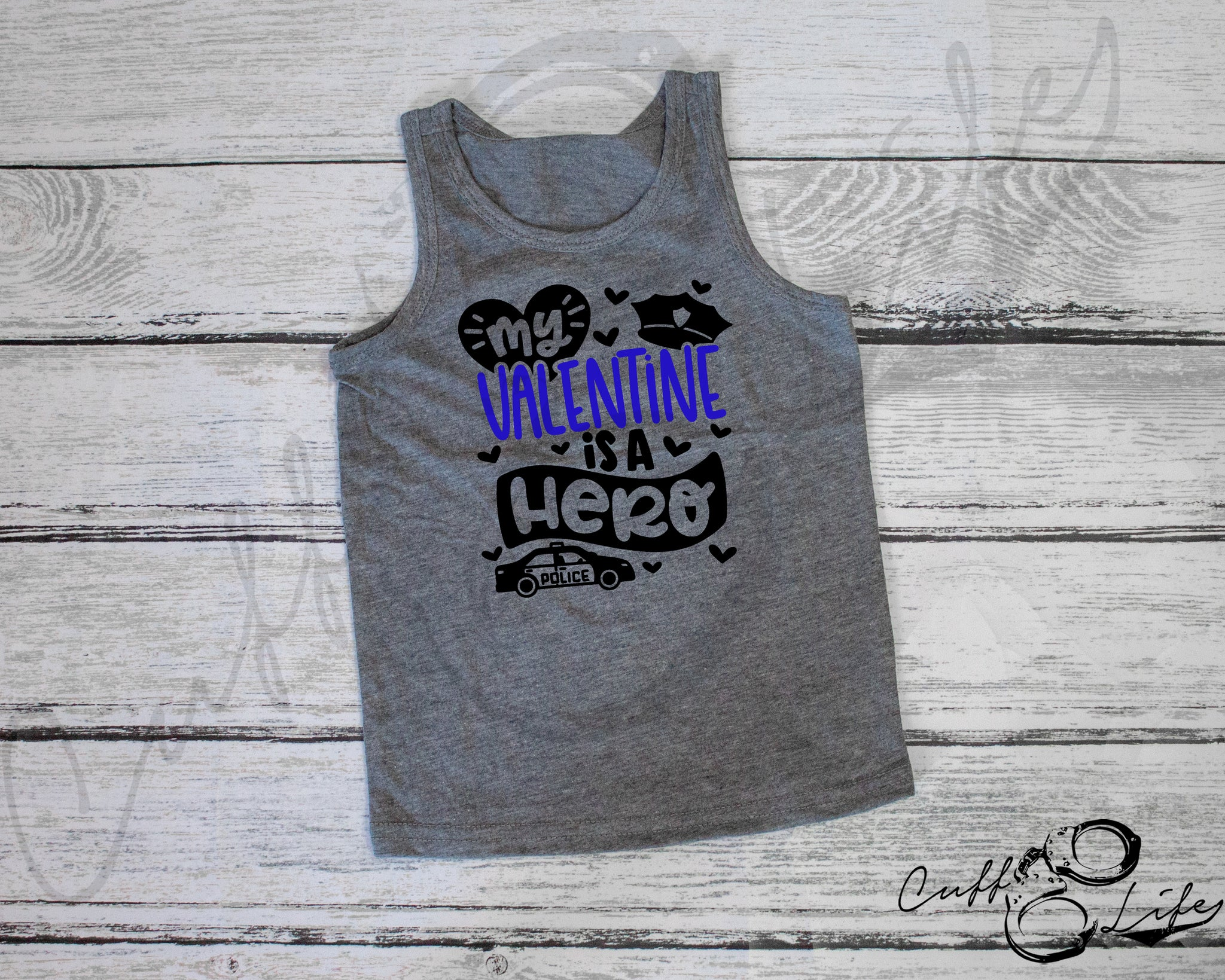 My Valentine is a Hero 2 - Tank Top