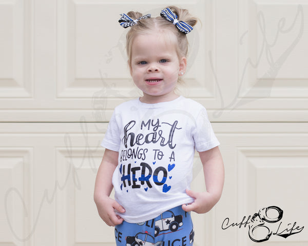 My Heart Belongs To A Hero - Toddler/Youth T-Shirt
